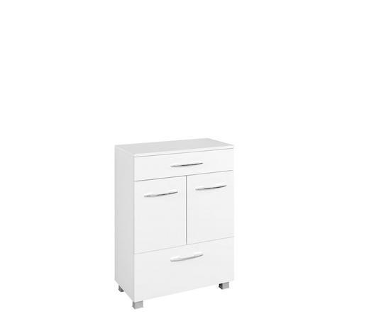 UNTERSCHRANK Weiß  - Chromfarben/Silberfarben, KONVENTIONELL, Holzwerkstoff/Kunststoff (60/84/35cm) - Carryhome