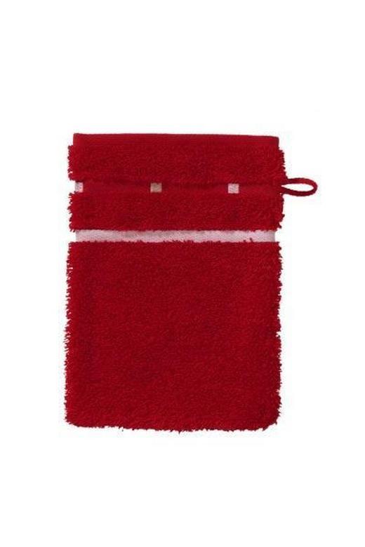 WASCHHANDSCHUH  Rot - Rot, Basics, Textil (16/22cm) - Vossen