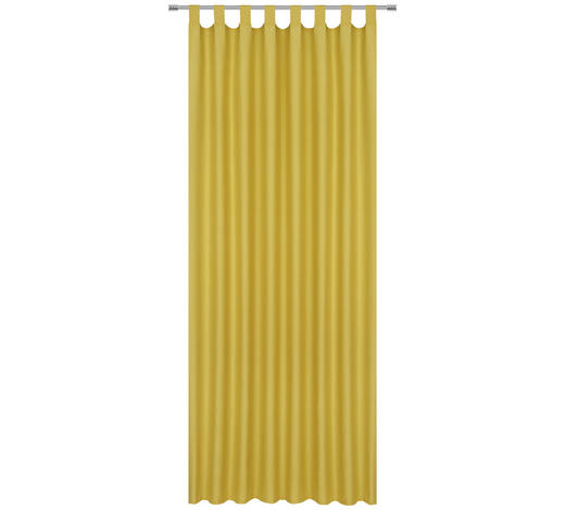 FERTIGVORHANG blickdicht - Gelb, Basics, Textil (140/245cm) - Esposa
