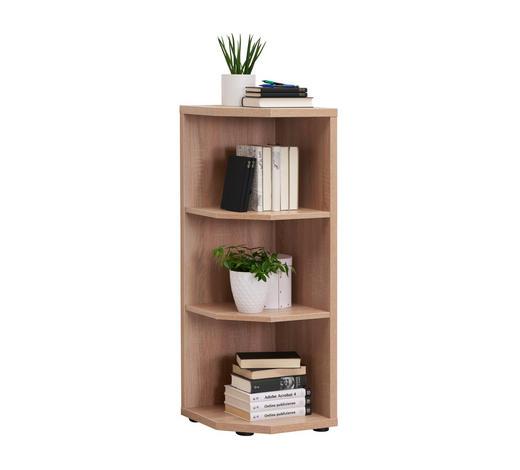 ABSCHLUSSREGAL Sonoma Eiche  - Schwarz/Sonoma Eiche, Design, Holzwerkstoff/Kunststoff (40/110,5/40cm) - Voleo