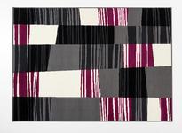 Webteppich Carol - Violett/Grau, Basics, Textil (100/160cm) - Ombra