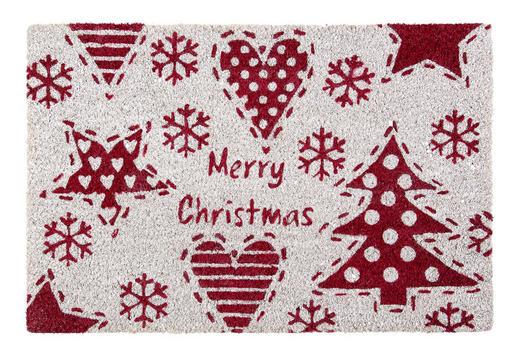 FUßMATTE 40/60 cm Weihnachten Rot, Weiß - Rot/Weiß, Basics (40/60cm) - X-Mas
