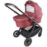 KINDERWAGEN Grado de Luxe  - Rot/Schwarz, Trend, Kunststoff/Textil (60/105,5/102cm) - My Baby Lou