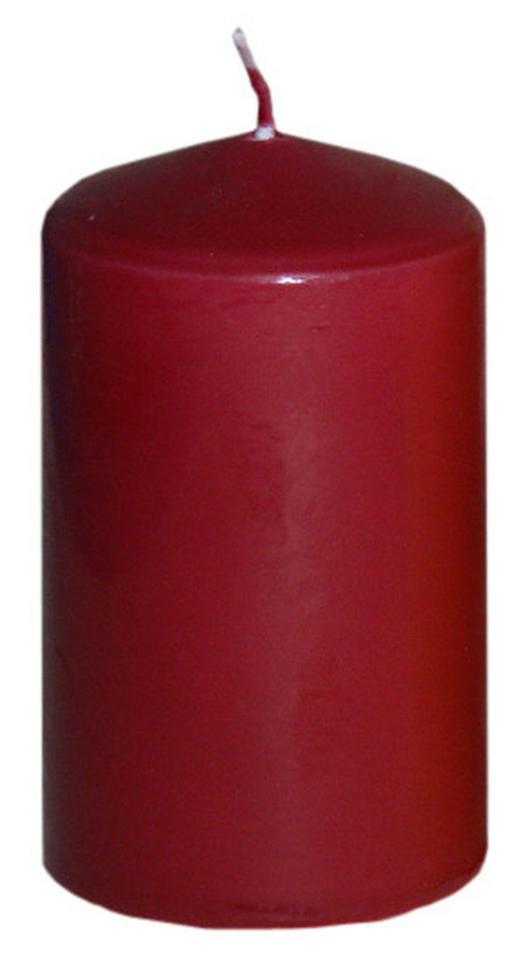 STUMPENKERZE 5,7/10 cm - Dunkelrot, Basics (5,7/10cm) - Steinhart
