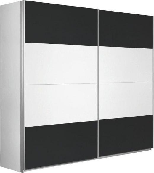 SCHWEBETÜRENSCHRANK 2-türig Grau, Weiß - Alufarben/Weiß, Design, Holzwerkstoff/Metall (226/210/62cm) - Xora