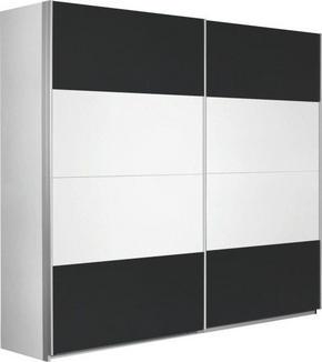 SKJUTDÖRRSGARDEROB - vit/alufärgad, Design, metall/träbaserade material (226/210/62cm) - Xora
