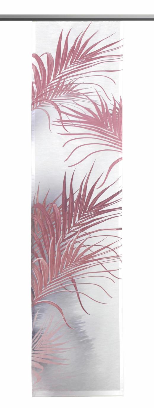 FLÄCHENVORHANG   transparent - Hellrosa/Altrosa, Textil (60/245cm)