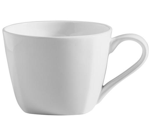 KAFFEETASSE 220 ml - Weiß, Basics, Keramik (9/6,5cm) - Novel