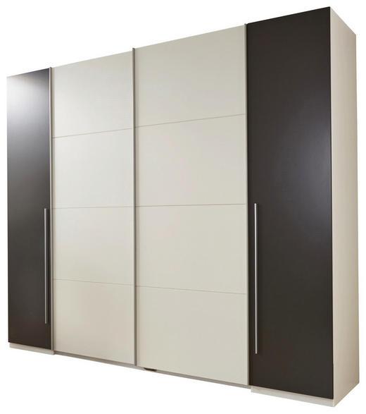 KLEIDERSCHRANK 4-türig Grau, Weiß - Alufarben/Weiß, Basics, Holzwerkstoff/Kunststoff (270/225/61cm) - Carryhome