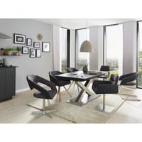 HOUPACÍ ŽIDLE, antracitová, černá, barvy nerez oceli - černá/antracitová, Design, kov/textil (50/87/60cm) - Dieter Knoll