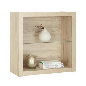 HYLLA - ekfärgad, Design, glas/träbaserade material (60/60/26cm)