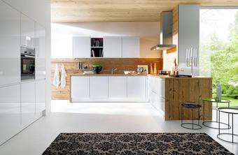 VESTAVNÁ KUCHYŇ - bílá/barvy smrku, Design, dřevěný materiál - NOVEL