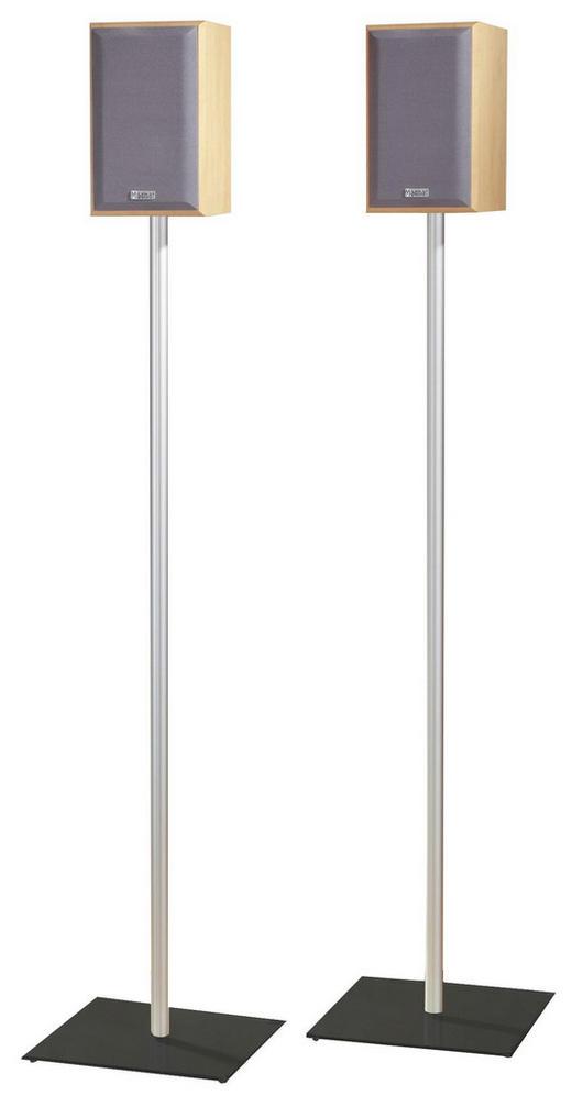BOXENSTÄNDER Schwarz, Silberfarben - Silberfarben/Schwarz, KONVENTIONELL, Glas/Metall (26/107/26cm)