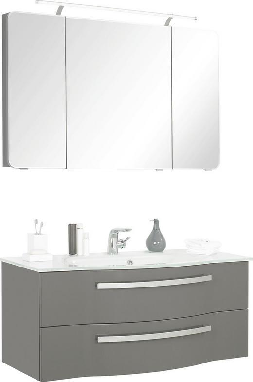 BADEZIMMER - Grau, Design, Glas/Holzwerkstoff (120cm) - Sadena