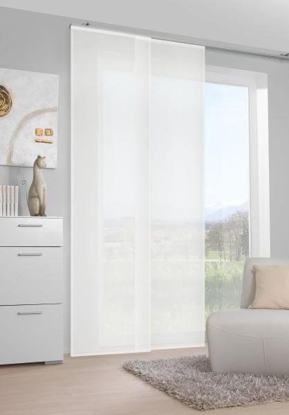 FLÄCHENVORHANG   halbtransparent   60/245 cm - Weiß, Basics, Textil (60/245cm) - NOVEL