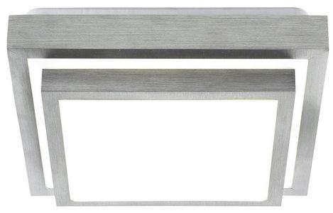 LED PLAFONJERA - Boja aluminijuma/Bela, Osnovno, Plastika/Metal (32/32cm) - Novel
