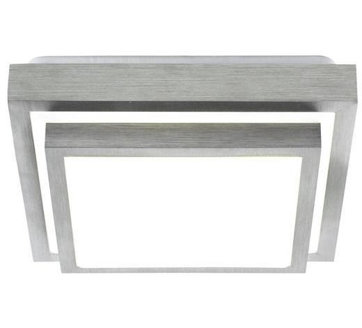 LED-DECKENLEUCHTE - Alufarben/Weiß, Basics, Kunststoff/Metall (32/32/9cm) - Novel