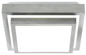 LED-DECKENLEUCHTE - Alufarben/Weiß, Design, Kunststoff/Metall (32/32/9cm) - Novel