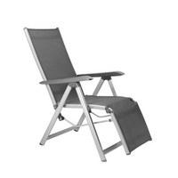 GARTEN-RELAXSESSEL 61/111/90 cm - Anthrazit/Silberfarben, Design, Textil/Metall (61/111/90cm) - Kettler HKS