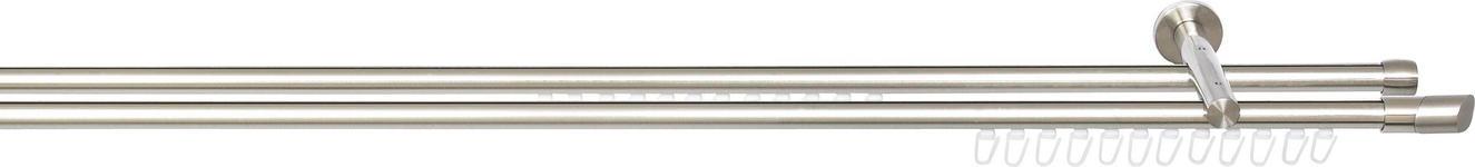 RUNDSTANGE 240 cm  - Edelstahlfarben, Basics, Metall (240cm) - Homeware