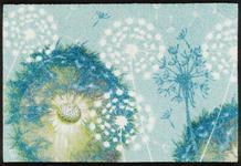 FUßMATTE 50/75 cm Blume Hellblau - Hellblau, Basics, Kunststoff/Textil (50/75cm) - Esposa