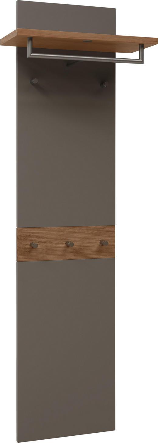 GARDEROBENPANEEL Wildeiche furniert, massiv geschroppt, lackiert, matt Eichefarben, Fango - Fango/Eichefarben, Design, Holz (45-60/186/32cm) - Dieter Knoll