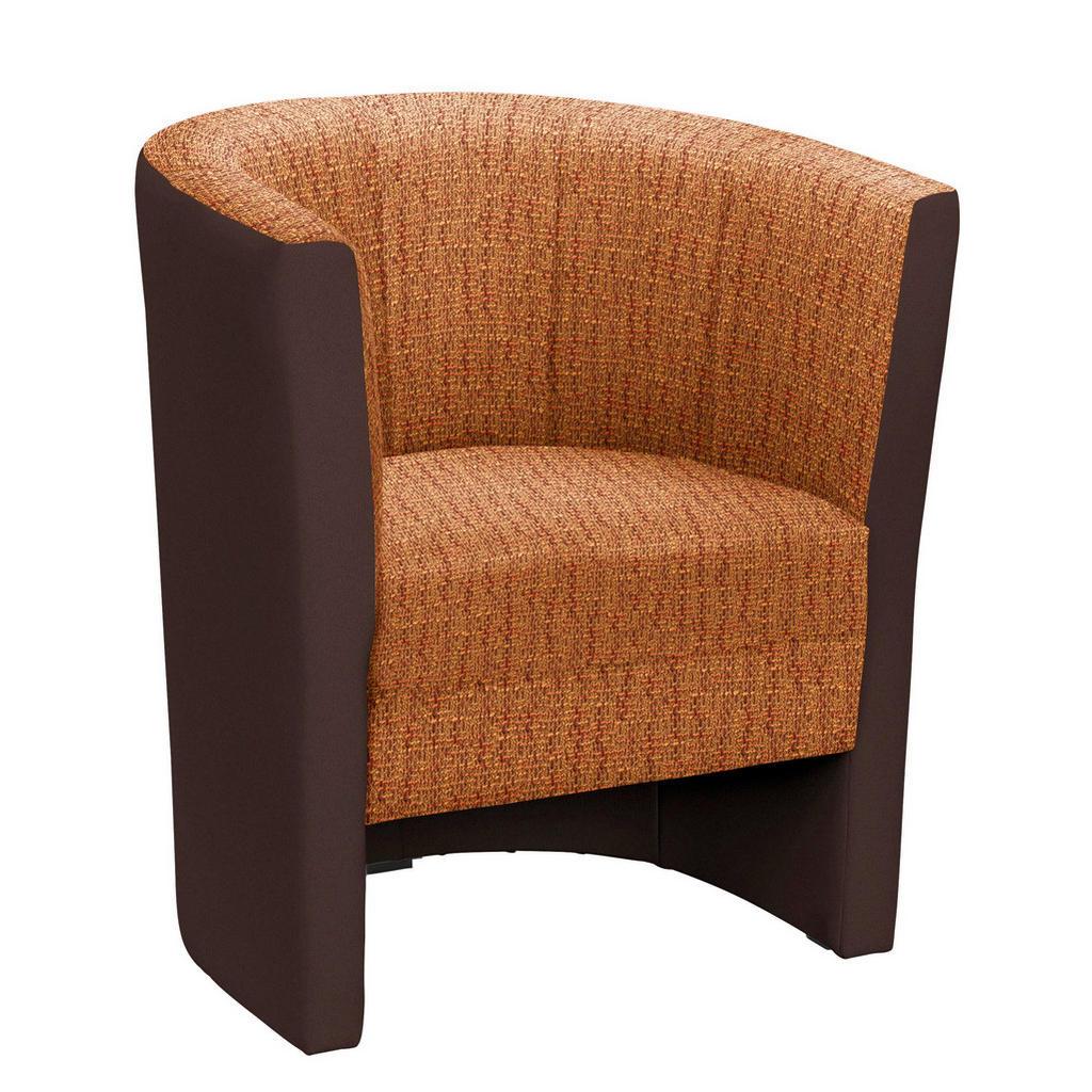 Sessel In Textil Braun, Orange