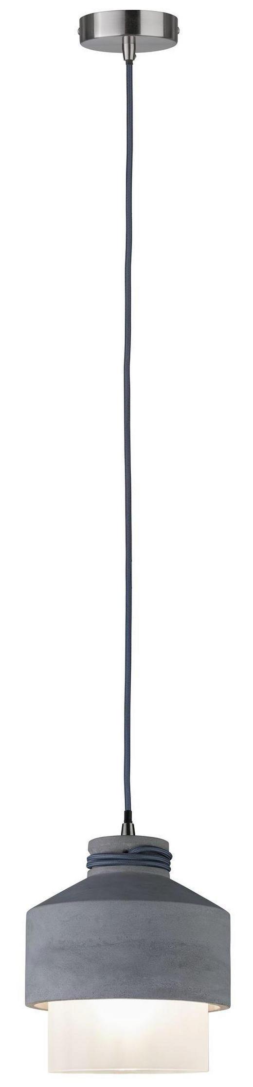 HÄNGELEUCHTE - Grau, Design, Glas/Stein (19/175cm)