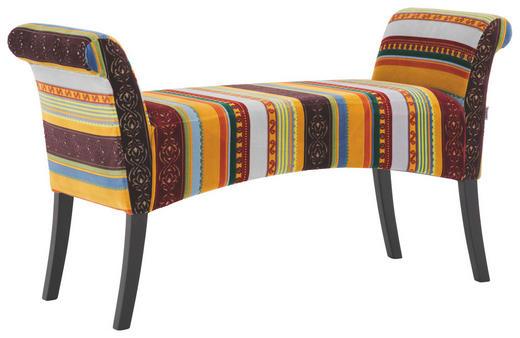 SITZBANK Mikrofaser Multicolor - Multicolor/Schwarz, Design, Holz/Textil (110/61/40cm) - Kare-Design