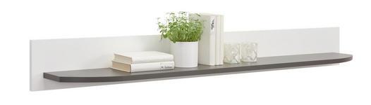 WANDBOARD in 180/20/24 cm Graphitfarben, Weiß - Graphitfarben/Weiß, Design, Holzwerkstoff (180/20/24cm) - Xora