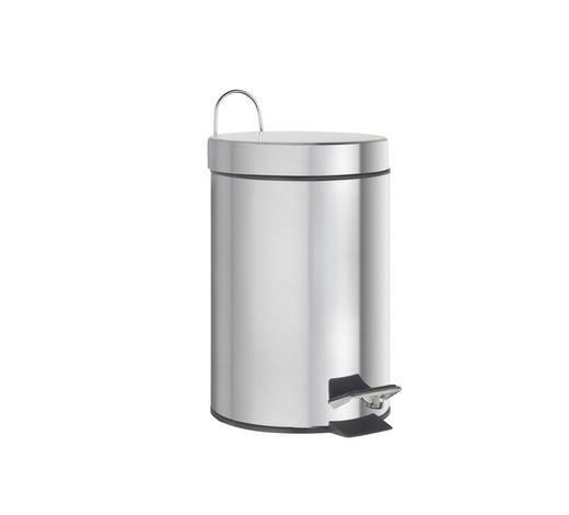 TRETEIMER 3 L  - Silberfarben/Schwarz, KONVENTIONELL, Kunststoff/Metall (3l) - Homeware