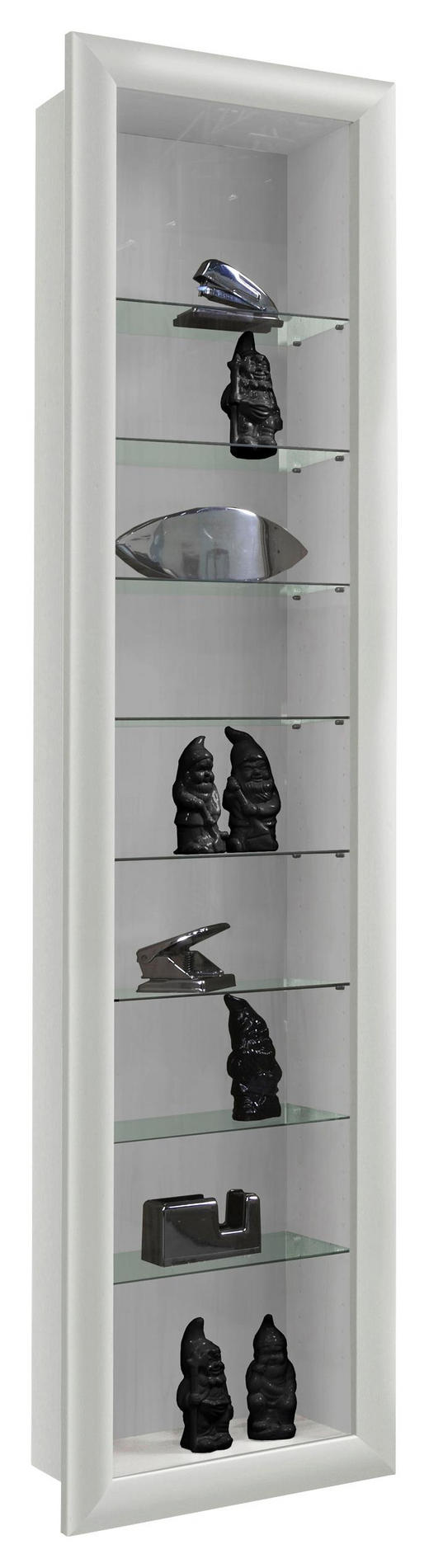 HÄNGEVITRINE Weiß - Weiß, Design, Glas (42/168,5/17,5cm) - Carryhome