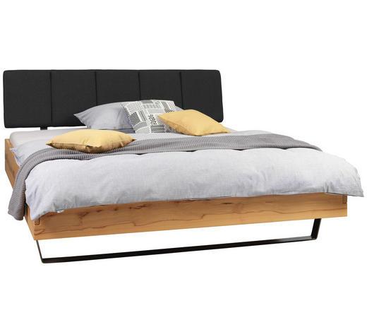 POSTEL, 180/200 cm, dřevo, kov, textil, antracitová, barvy buku - barvy stříbra/antracitová, Natur, kov/dřevo (180/200cm) - Valnatura