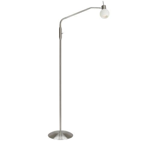 LED STOJACÍ LAMPA - bílá/barvy niklu, Basics, kov/sklo (145cm) - Novel