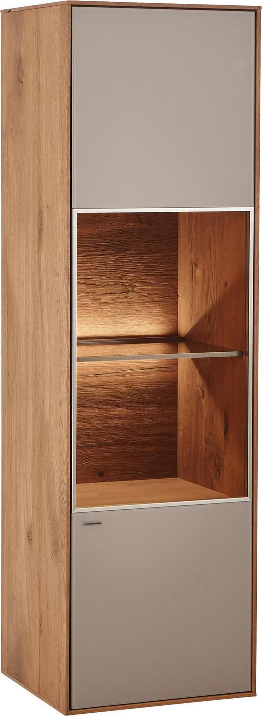 HÄNGEVITRINE Kerneiche vollmassiv Eichefarben, Fango - Fango/Eichefarben, Design, Glas/Holz (41/137/39cm) - Valnatura