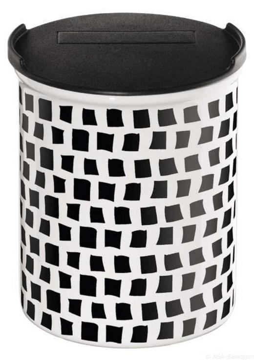 VORRATSDOSE - Schwarz/Weiß, Basics, Keramik (9,5/10cm)