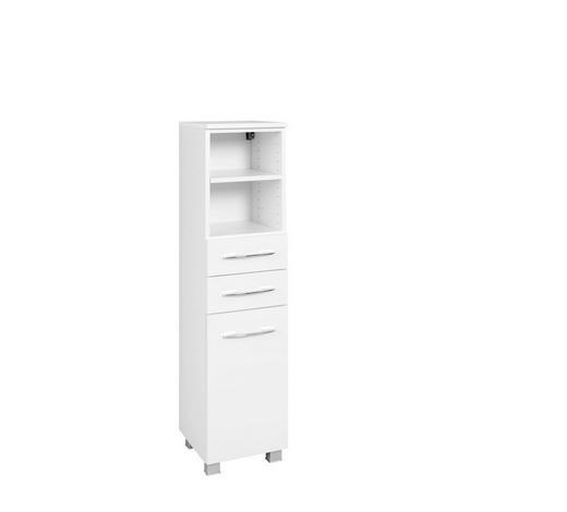 MIDISCHRANK Weiß  - Chromfarben/Silberfarben, KONVENTIONELL, Holzwerkstoff/Metall (45/122/35cm) - Carryhome