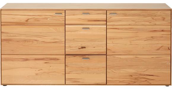 SIDEBOARD 183/84/41 cm - Edelstahlfarben/Buchefarben, Natur, Holz/Kunststoff (183/84/41cm) - Valnatura