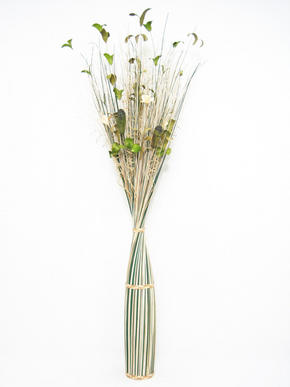 BUNT - grön/creme, Natur, ytterligare naturmaterial (150cm) - Ambia Home