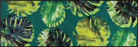 FUßMATTE 60/180 cm Floral Grün - Grün, Kunststoff/Textil (60/180cm) - Esposa