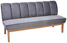 SITZBANK 183/94/82 cm  in Grau, Eichefarben  - Eichefarben/Grau, Design, Holz/Textil (183/94/82cm) - Carryhome