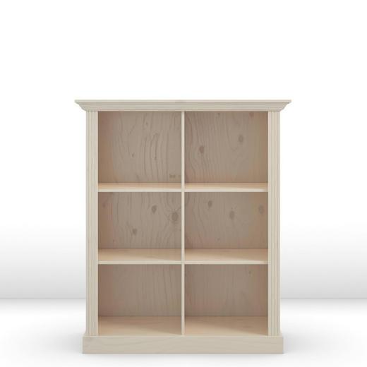 AKTENREGAL Kiefer massiv Weiß - Weiß, LIFESTYLE, Holzwerkstoff (104/132/47cm) - Carryhome