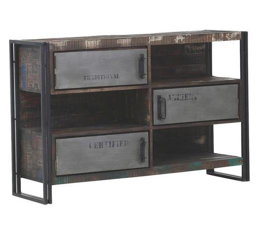 KOMODA, mangové dřevo, hnědá - hnědá, Design, kov/dřevo (140/90/40cm)