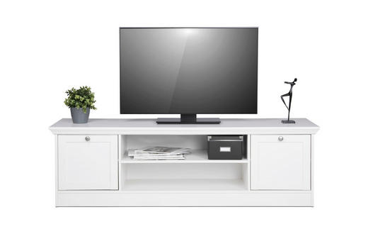TV-ELEMENT Weiß - Weiß, LIFESTYLE (160/48/45cm) - Carryhome