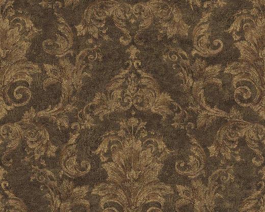 VLIESTAPETE 10,05 m - Hellbraun/Goldfarben, Basics, Textil (70/1005cm)
