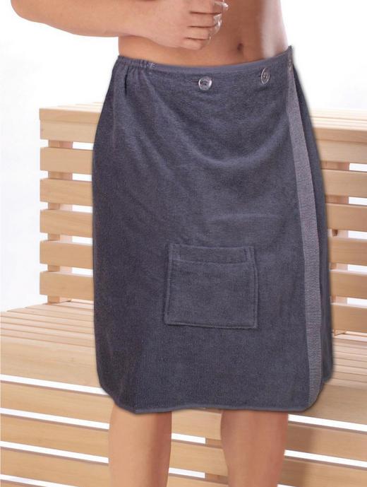 SAUNAKILT 145/60 cm - Anthrazit, Basics, Textil (145/60cm)
