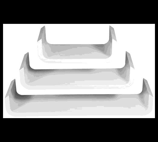 WANDREGALSET 3-teilig Weiß - Weiß, Basics - Carryhome