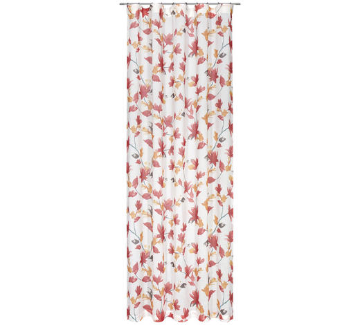 FERTIGVORHANG halbtransparent - Rot/Orange, KONVENTIONELL, Textil (135/245cm) - Esposa