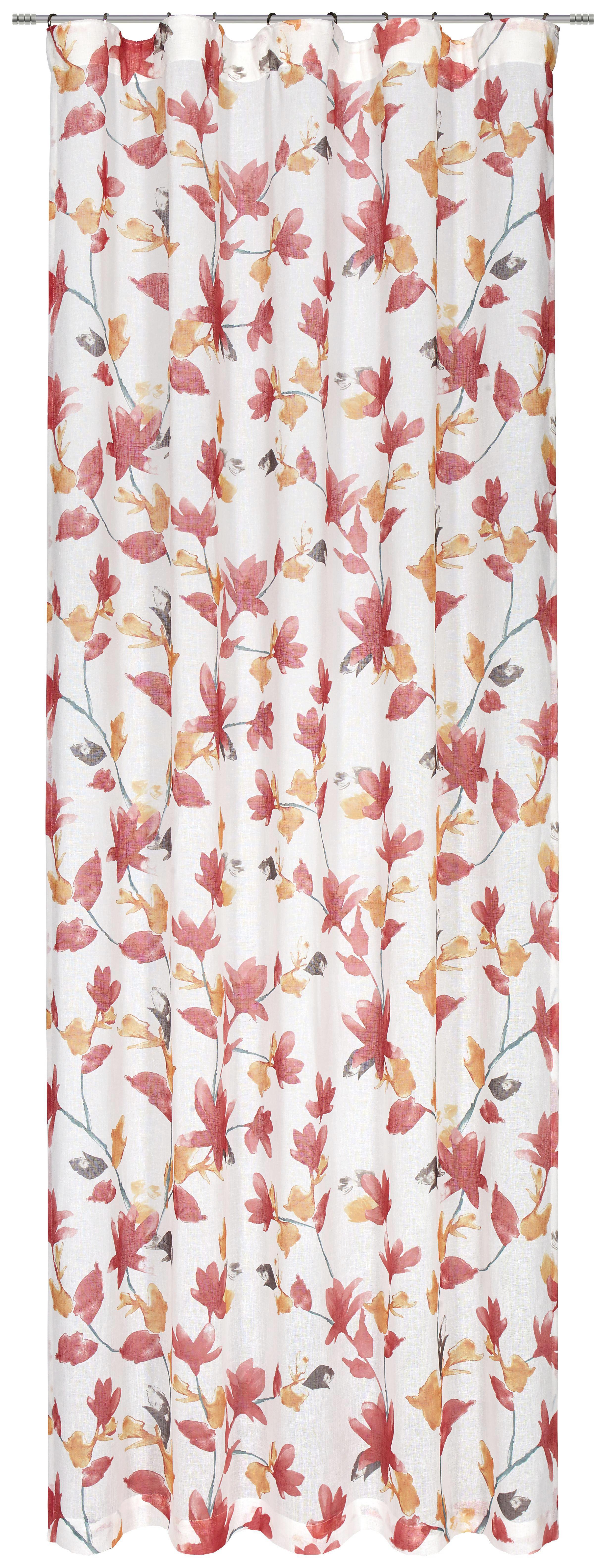 FERTIGVORHANG halbtransparent - Rot/Orange, MODERN, Textil (135/245cm) - ESPOSA