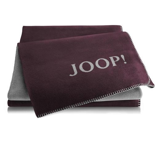 WOHNDECKE 150/200 cm Graphitfarben, Bordeaux  - Bordeaux/Graphitfarben, Basics, Textil (150/200cm) - Joop!